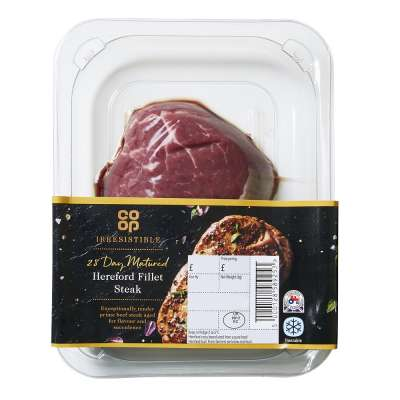 Co-op Irresistible 28 Day Matured Hereford Fillet Steak 170g