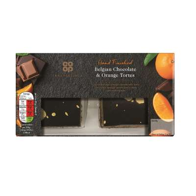Co-op Irresistible Belgian Chocolate and Orange Torte 2x85g