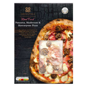 Co-op Irresistible Wood Fired Pancetta, Mushroom and Mascarpone Pizza 497g