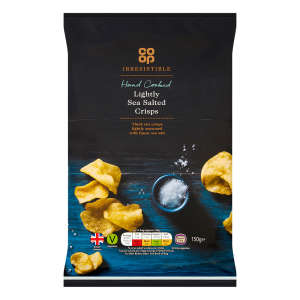 Co-op Irresistible Lightly Sea Salted Crisps 150g