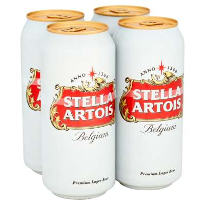 Stella Artois Can 4x440ml