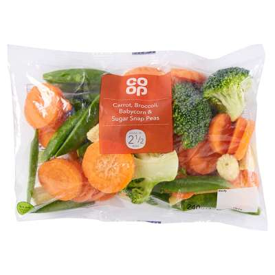 Co-op Broccoli Carrot Babycorn And Sugarsnap Peas 240g