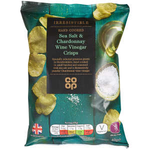 Co-op Irresistible Sea Salt Chardonnay Wine Vinegar Crisps 40g