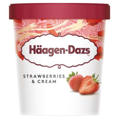 Haagen Dazs Strawberries & Cream 460ml