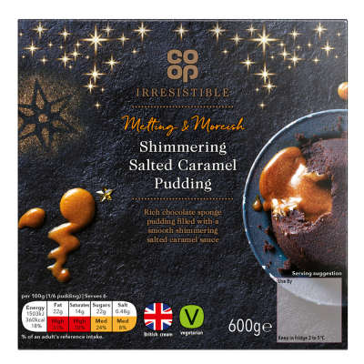 Co-op Irresistible Shimmering Salted Caramel Pudding 600g