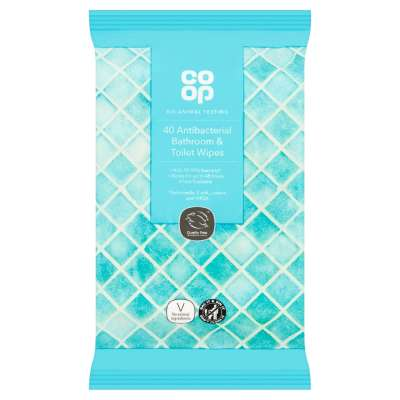 Co-op 40 Antibacterial Bathroom & Toilet Wipes