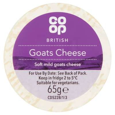 Co-op Goats Cheese 65g