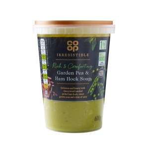 Co-op Irresistible Gluten Free Garden Pea & Shredded Ham Hock Soup 600g