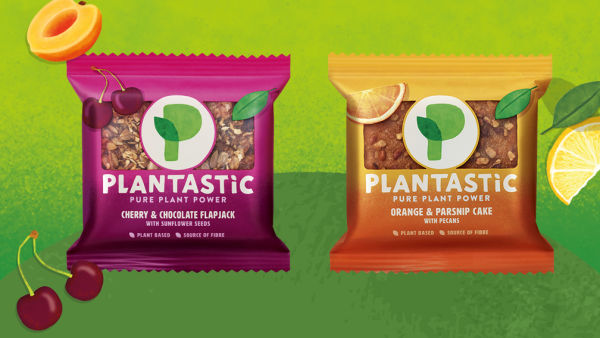 plant-based cake and flapjack bars from Plantastic