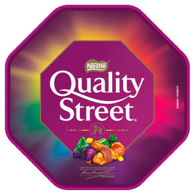 Quality Street Assorted Chocolate Toffee & Cremes Tub 650g