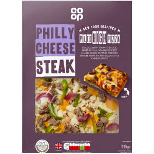 Co-op New York Style Piled High Philly Cheese Steak Pizza 535g