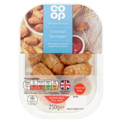 Co-op British Cocktail Sausages 250g