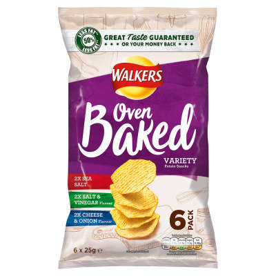 Walkers Baked Variety 6x25g