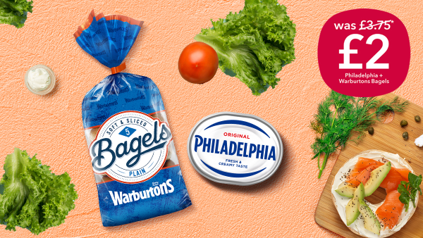 The perfect pairing of Warburtons bagels and Philadelphia