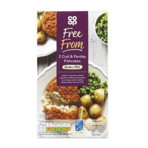 Co-op Free From 2 Cod & Parsley Fishcakes 240g - Gluten Free