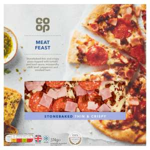 Co-op Stonebaked Thin & Crispy Meat Feast Pizza 374g