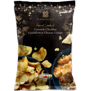 Co-op Irresistible Cornish Cheddar Cauliflower Cheese Crisps 150g