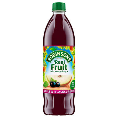 Robinsons Apple and Blackcurrant No Added Sugar Fruit Squash 1 Ltr