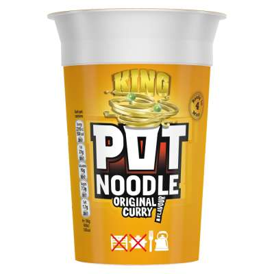 King Pot Noodle Original Curry 114g
