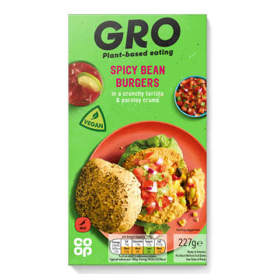 GRO Spicy Bean Burgers 227g