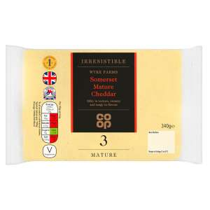 Co-op Irresistible Somerset Mature Cheddar Cheese 340g