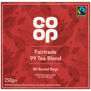 Co-op Fairtrade 99 Tea Blend Bags 250g