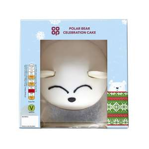 Co-op Polar Bear Celebration Cake Each
