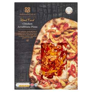Co-op Irresistible Wood Fired Chicken Arrabbiata Pizza 510g