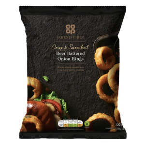 Co-op Irresistible Beer Battered Onion Rings 350g