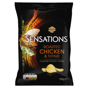 Walkers Sensations Roasted Chicken & Thyme Crisps 150g