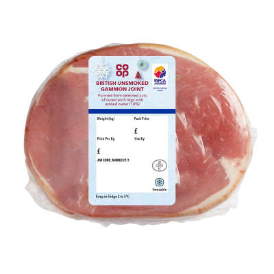 Co-op Unsmoked Legged Gammon Joint 600g