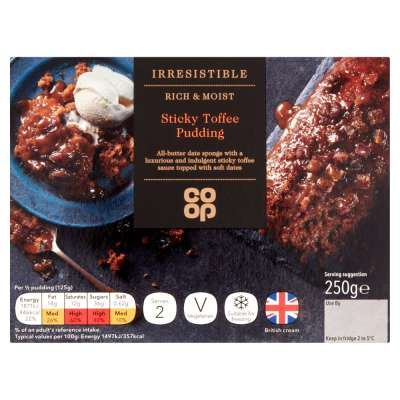 Co-op Irresistible Sticky Toffee Pudding 250g