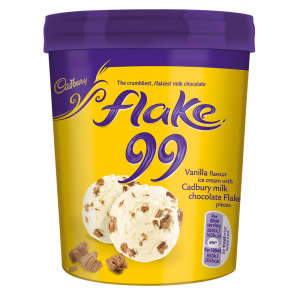 Cadbury Flake Ice Cream Tub 480ml