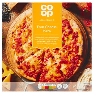 Co-op Four Cheese Stonebaked Pizza 349g