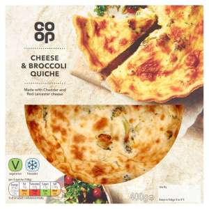Co-op Cheese & Broccoli Quiche 400g
