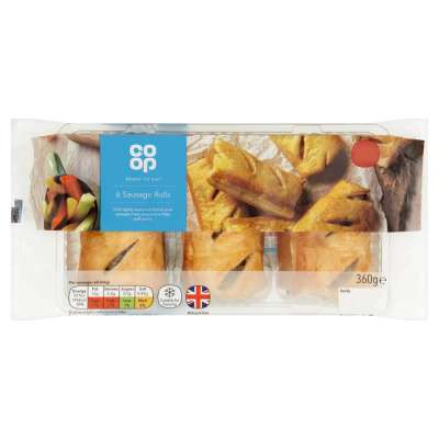 Co-op Sausage Rolls 6s 360g