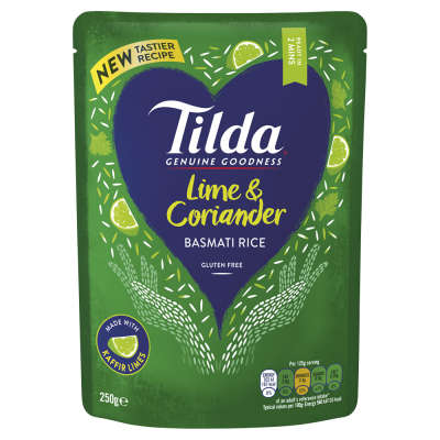 Tilda Steamed Lime and Coriander Basmati Rice 250g