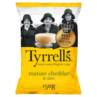 Tyrrells Cheddar and Chives Potato Chips 150g