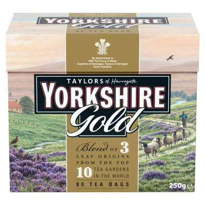 Taylors 80 Yorkshire Gold Tea Bags 250g