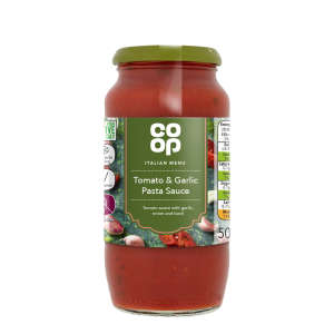 Co-op Tomato and Garlic Pasta Sauce 500g