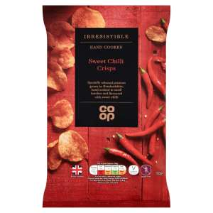 Co-op Irresistible Sweet Chilli Crisps 150g - Gluten Free