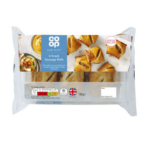 Co-op Snack Sausage Rolls 6 pack 180g