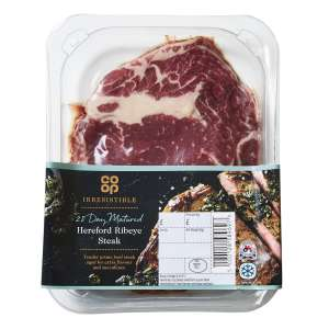 Co-op Irresistible 28 Day Matured Hereford Ribeye Steak 227g