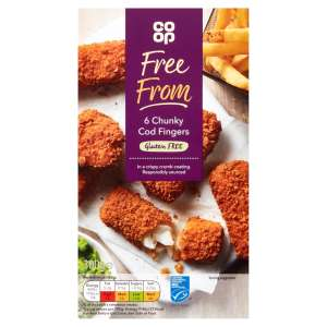 Co-op Free From 6 Chunky Cod Fingers 300g - Gluten Free