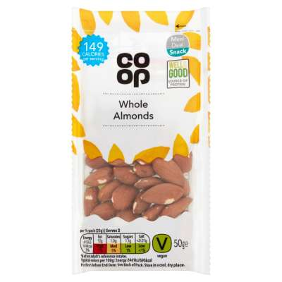 Co-op Whole Almonds 50g