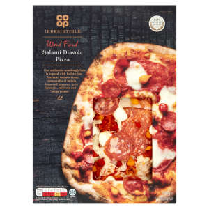 Co-op Irresistible Wood Fired Salami Diavola Pizza 496g