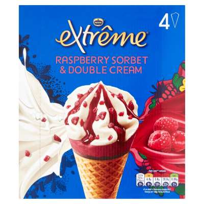 Extreme Raspberry & Double Cream Cone 4x120ml
