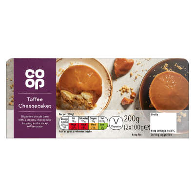 Co-op Toffee Cheesecake 2x100g