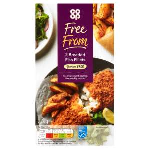 Co-op Free From 2 Breaded Fish Fillets 270g - Gluten Free