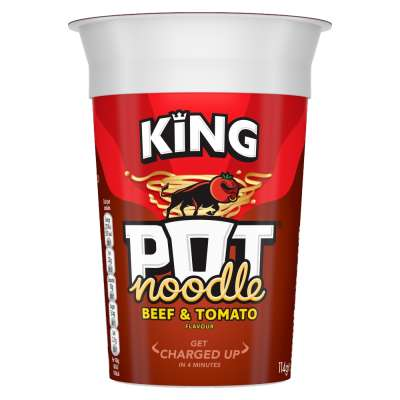 King Pot Noodle Beef And Tomato 114g